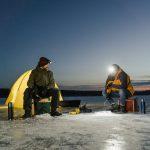 Langer vissen in de winter